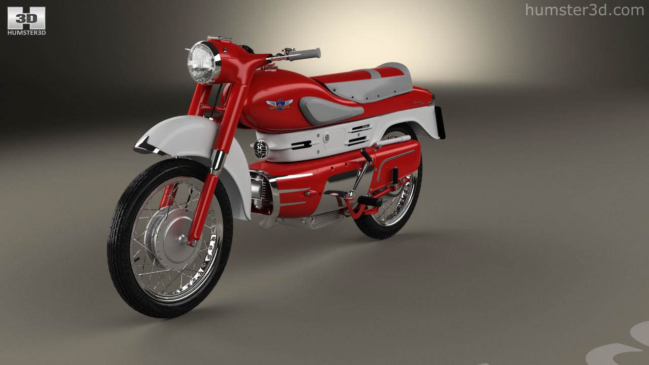 360 view of Aermacchi Chimera 1957 3D model - Hum3D store