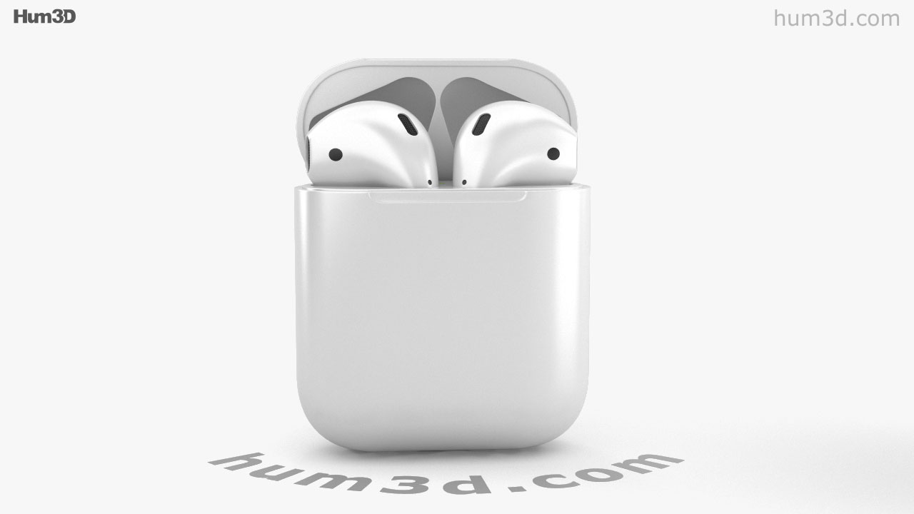 360 View Of Apple Airpods 3d Model Hum3d Store