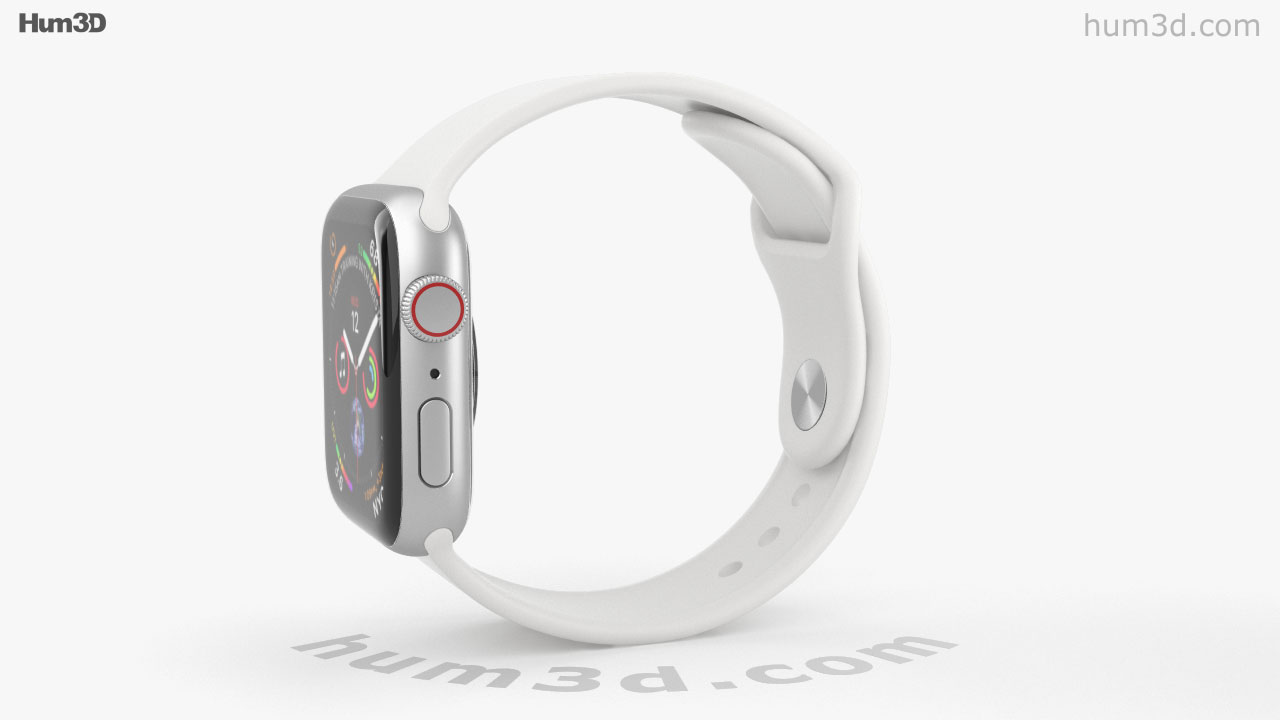 promo code ad3d0 9ed3b 360 view of Apple Watch Series 4 40mm Silver Aluminum Case with ...
