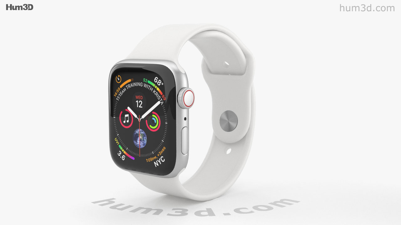 promo code 45863 34135 360 view of Apple Watch Series 4 44mm Silver Aluminum Case with ...