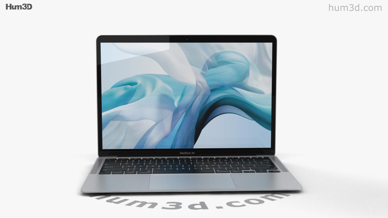 360 view of Apple MacBook Air (2020) Silver 3D model ...