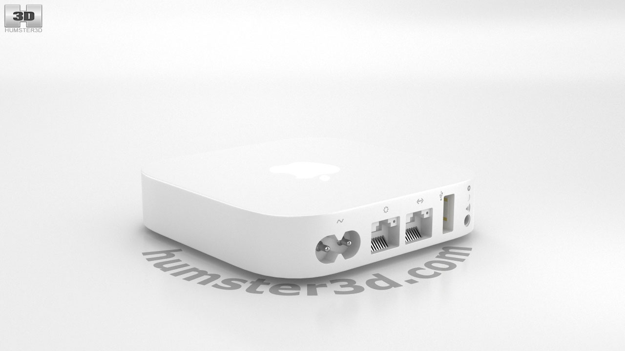 360 View Of Apple Airport Express 3d Model Hum3d Store