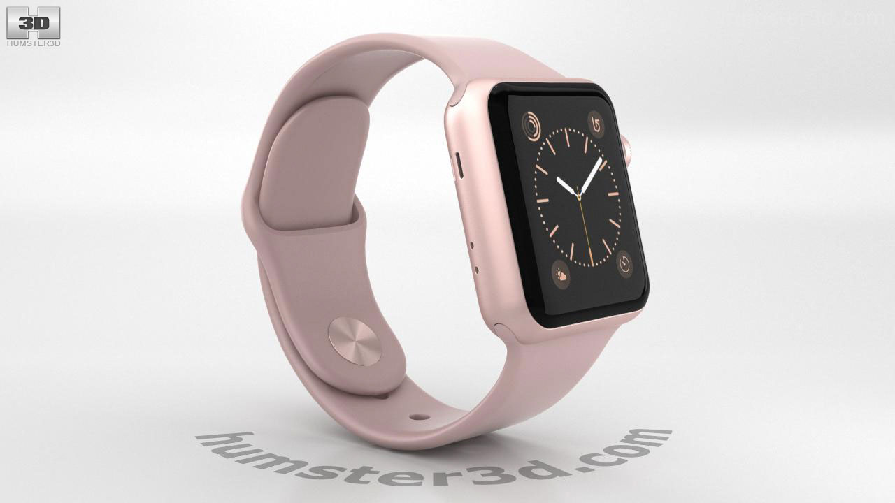new arrivals 8cac4 60d86 360 view of Apple Watch Series 2 38mm Rose Gold Aluminum Case Pink ...
