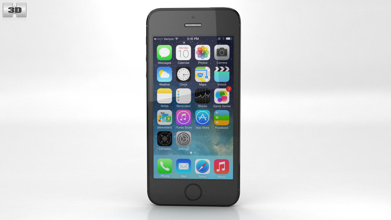 Ap apple iphone 5s space gray 32gb - Apple Iphone 5s Space Gray Black 3d Model