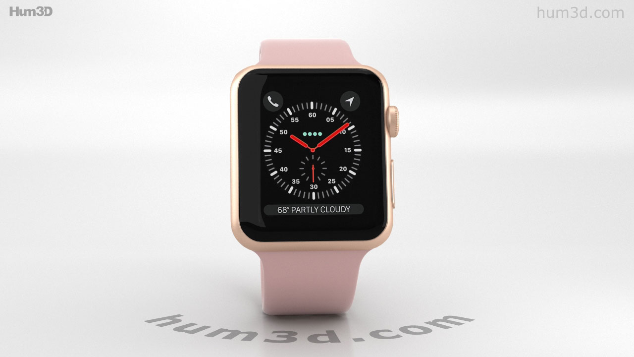 sports shoes c44e9 fd9e9 360 view of Apple Watch Series 3 42mm GPS + Cellular Gold Aluminum ...