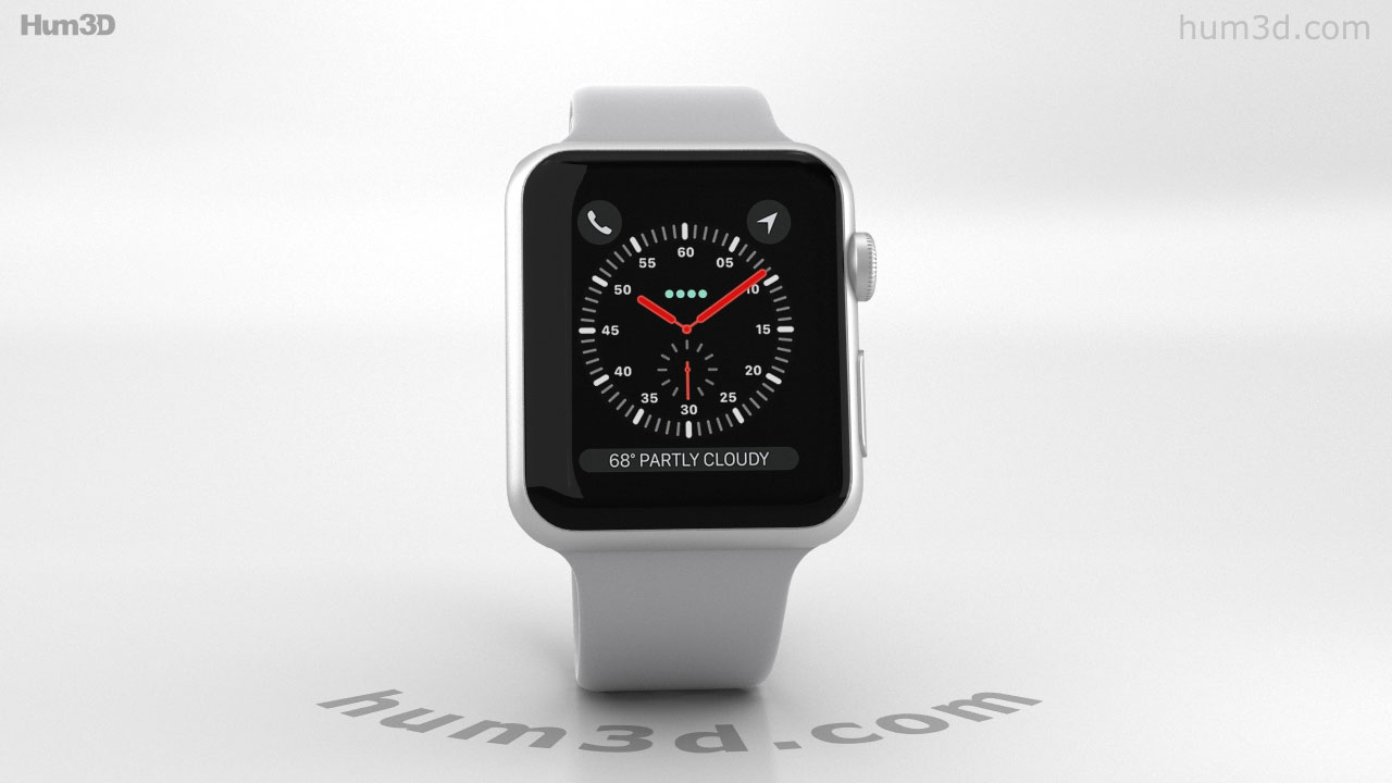 best sneakers 5b427 e9f23 360 view of Apple Watch Series 3 42mm GPS + Cellular Silver Aluminum ...