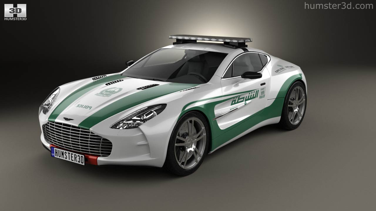 360 View Of Aston Martin One 77 Police Dubai 2013 3d Model Hum3d Store