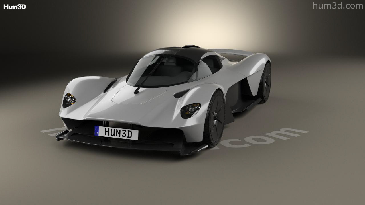 360 view of aston martin valkyrie 2018 3d model - hum3d store