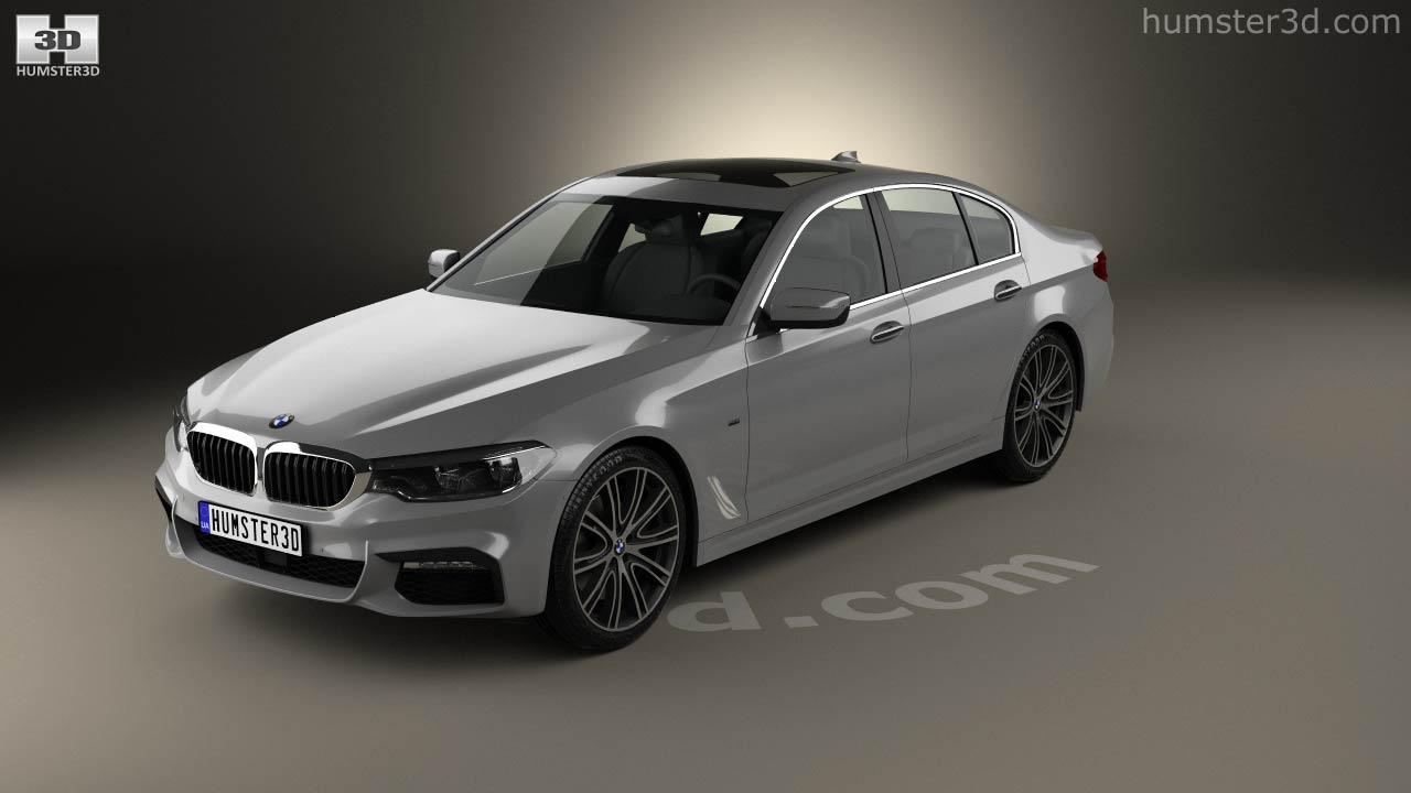 BMW 5 Series (G30) M Sport 2017 3d Model