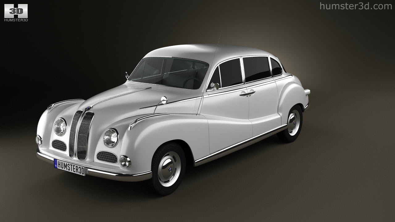 360 view of BMW 501 Saloon 1952 3D model - Hum3D store