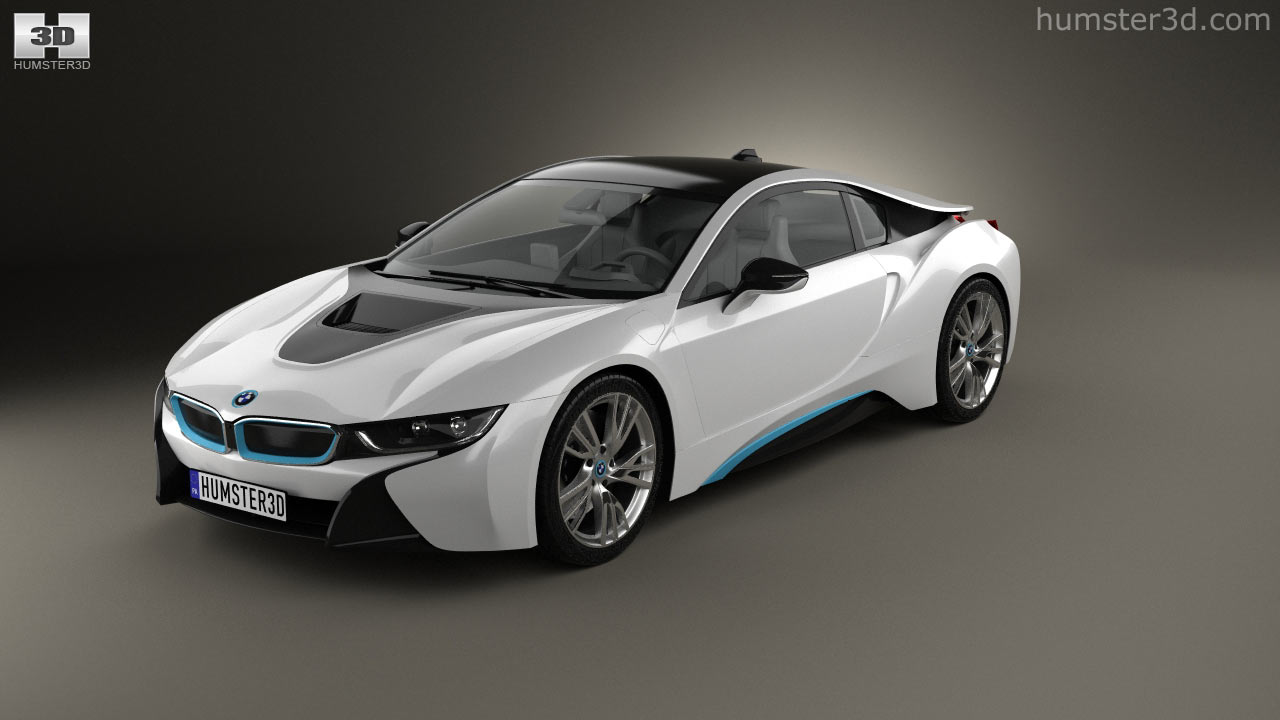 360 View Of Bmw I8 2014 3d Model Hum3d Store