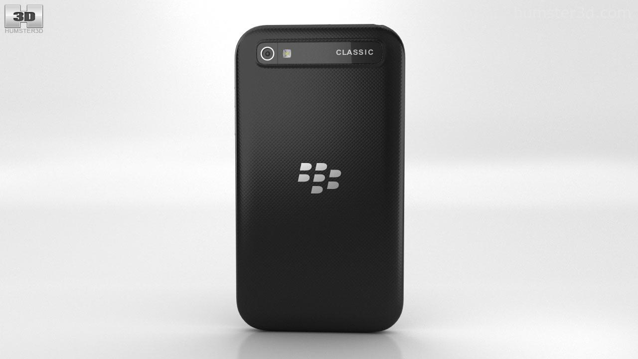 360 View Of Blackberry Classic Black 3d Model Hum3d Store Q20