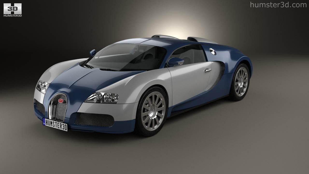360 view of bugatti veyron 2005 3d model - hum3d store