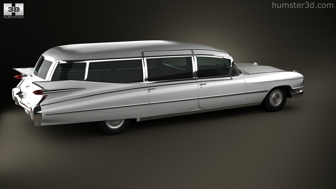 360 view of Cadillac Fleetwood 75 Miller-Meteor Hearse 1959 3D model ...