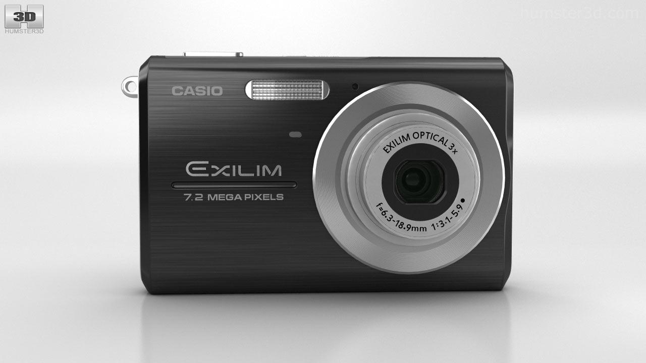 360 view of casio exilim ex z75 black 3d model hum3d store rh hum3d com Casio Exilim Ex S10 Manual Digital Cameras Casio Instruction Manual
