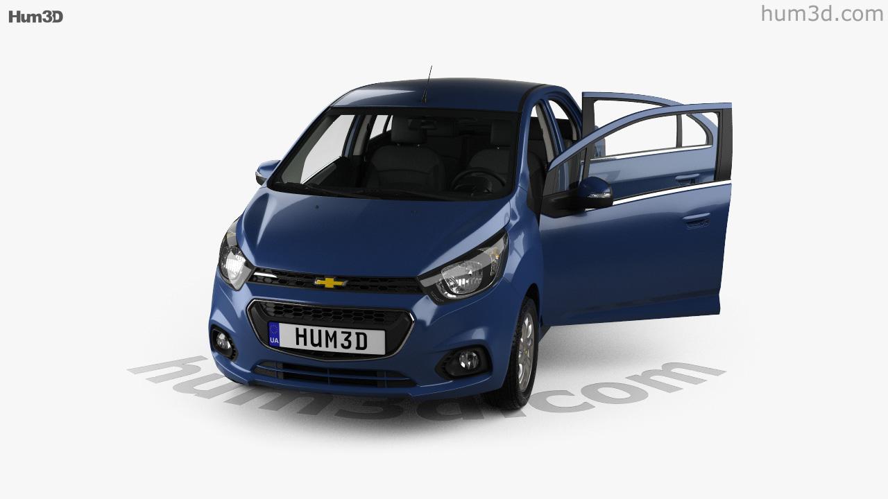 360 View Of Chevrolet Beat Ltz Sedan With Hq Interior 2018 3d Model Hum3d Store