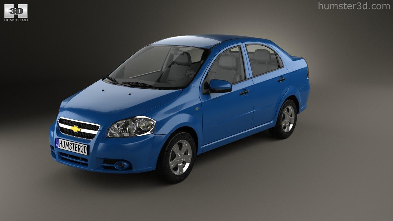 Chevrolet chevrolet 2006 aveo : 360 view of Chevrolet Aveo (T250) sedan 2006 3D model - Hum3D store