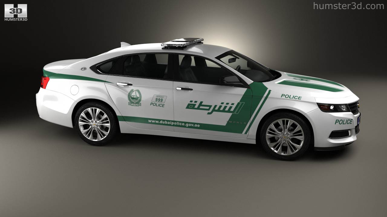 360 view of chevrolet impala police dubai 2014 3d model hum3d store publicscrutiny Image collections