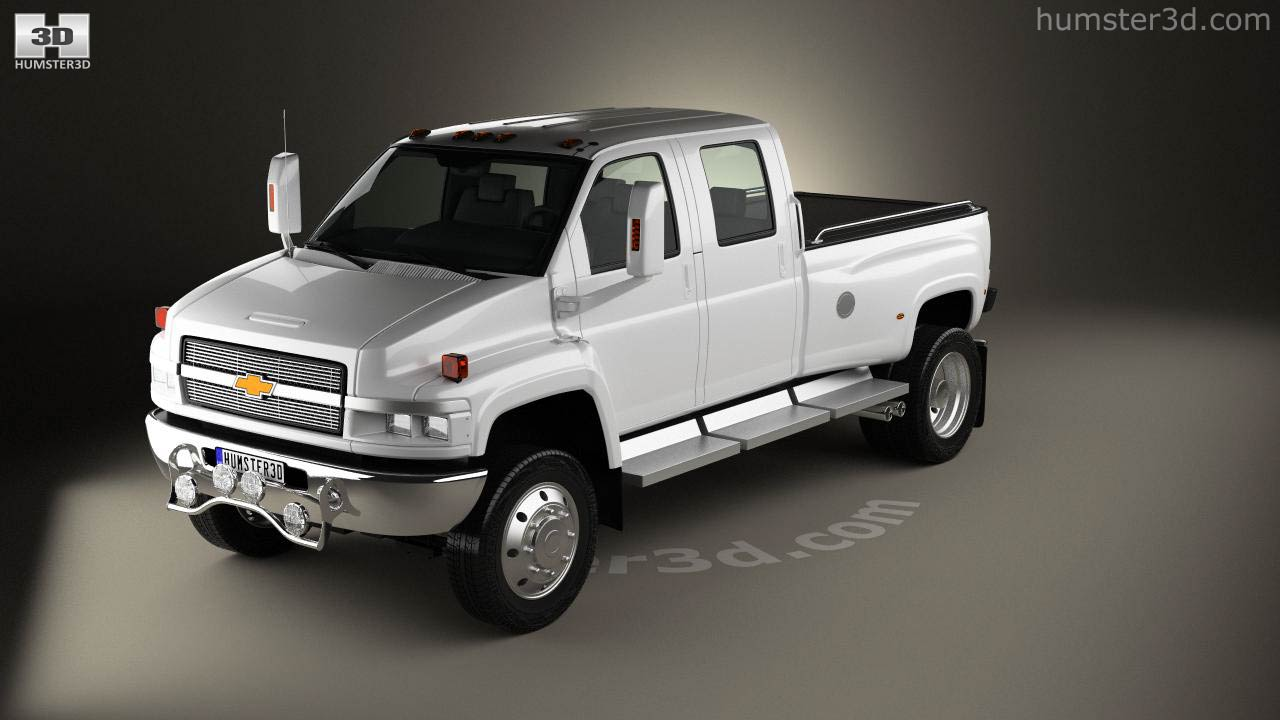 360 View Of Chevrolet Kodiak C4500 Crew Cab Pickup 2006 3d Model 1966