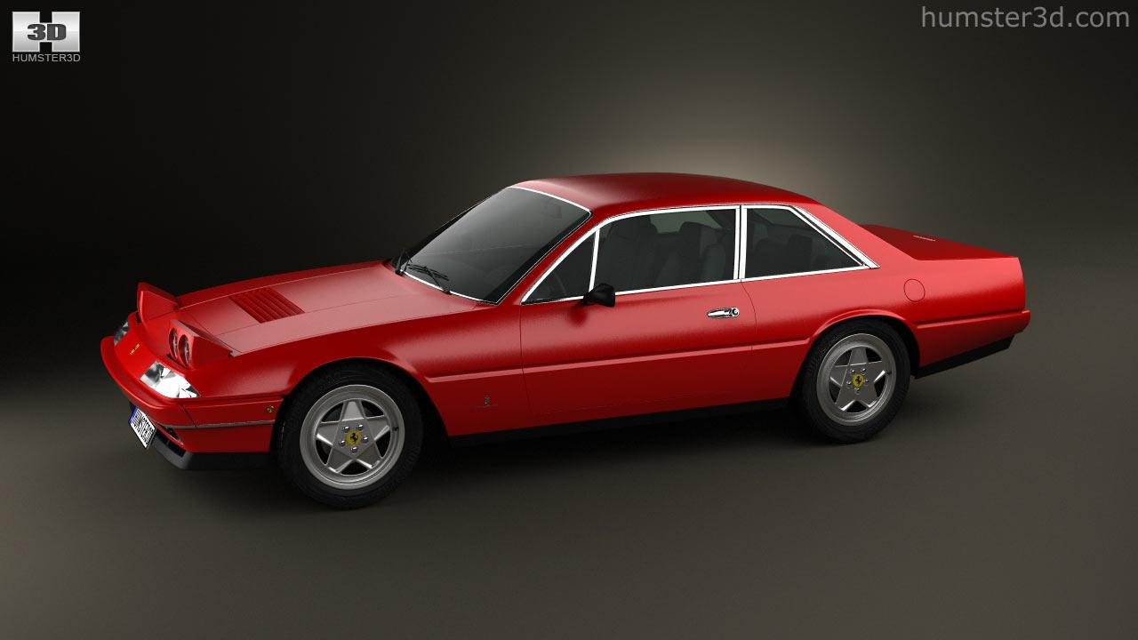 360 view of Ferrari 412 1985 3D model - Hum3D store