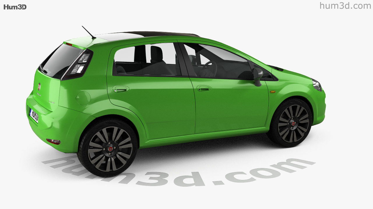 360 view of Fiat Punto TwinAir 5-door 2012 3D model - Hum3D store Fiat Punto Twinair on fiat lounge, fiat pop, fiat trekking review, fiat ads,