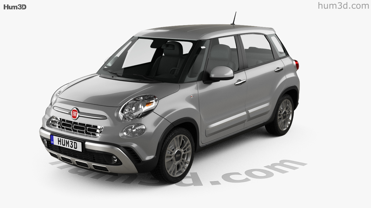 360 View Of Fiat 500l Cross 2017 3d Model Hum3d Store