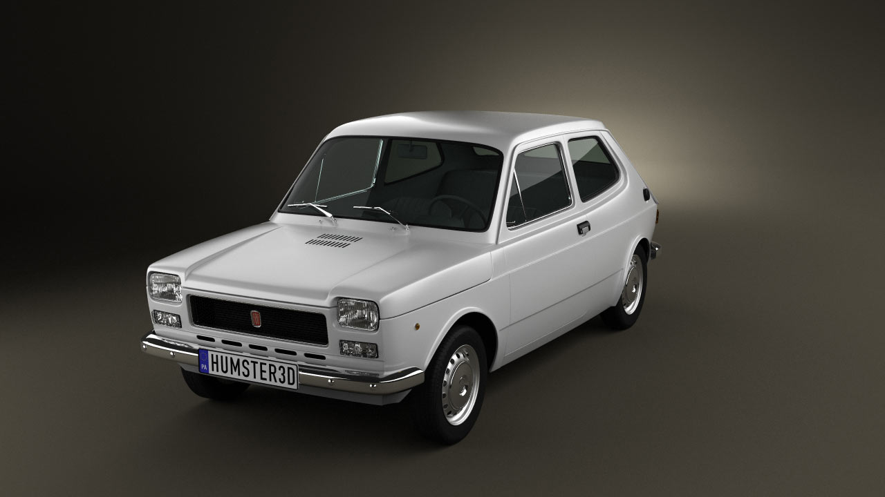 Fiat fiat 127 : 360 view of Fiat 127 1975 3D model - Hum3D store