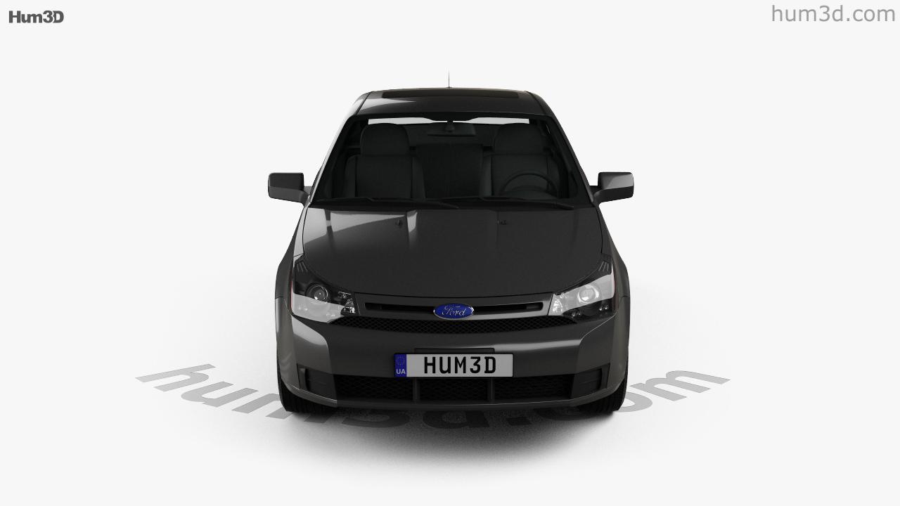 360 View Of Ford Focus Se Us Spec Sedan 2007 3d Model Hum3d Store Engine Size