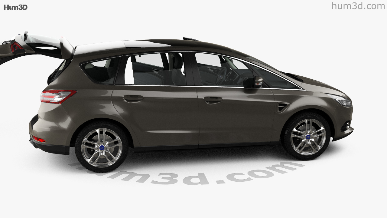 360 view of Ford S-MAX with HQ interior 2015 3D model - Hum3D store