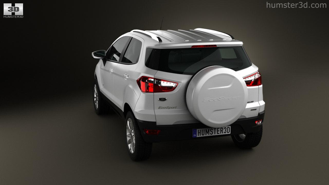 360 View Of Ford Ecosport Titanium 2013 3D Model