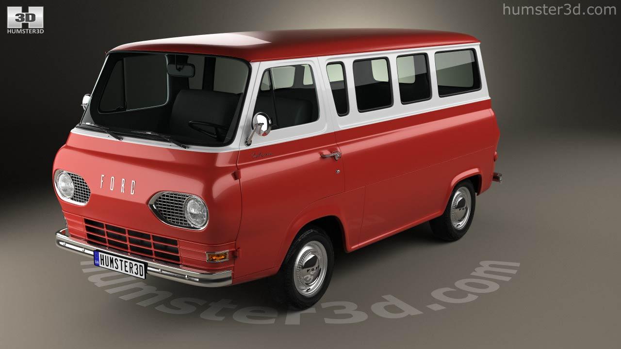 Ford e series falcon club wagon 1963 3d model