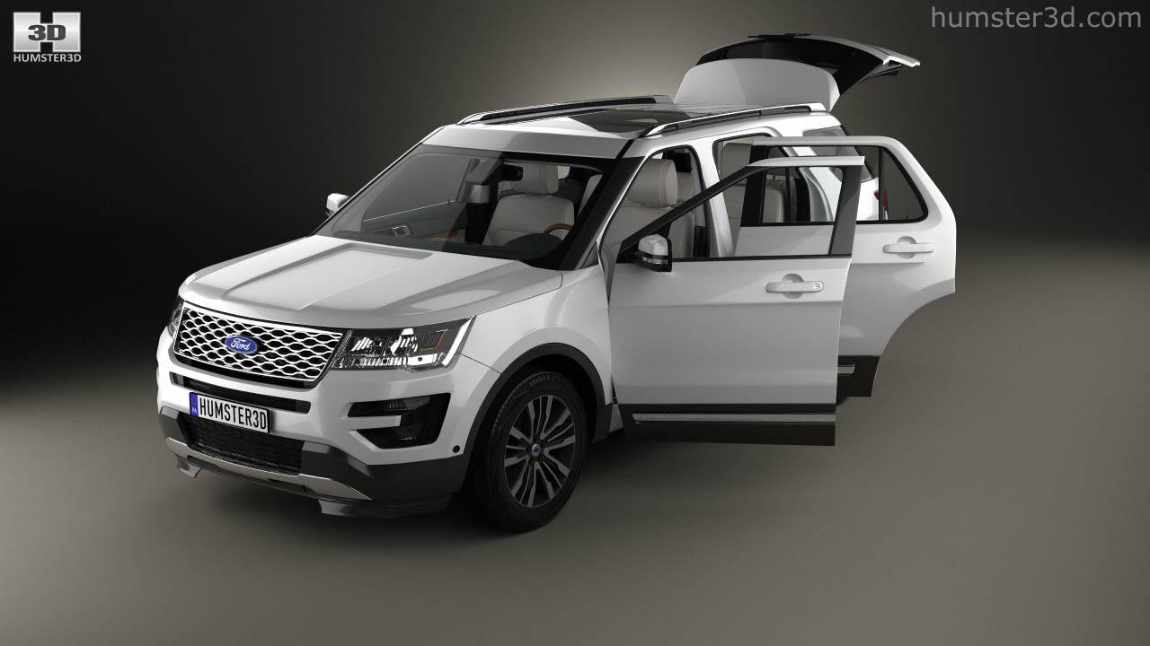 Ford Explorer (U502) Platinum With HQ Interior 2015 3d Model