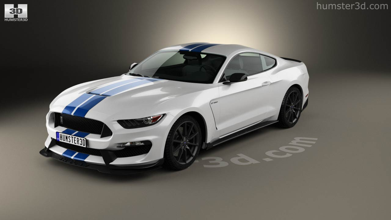 Ford mustang shelby gt350 2015 3d model