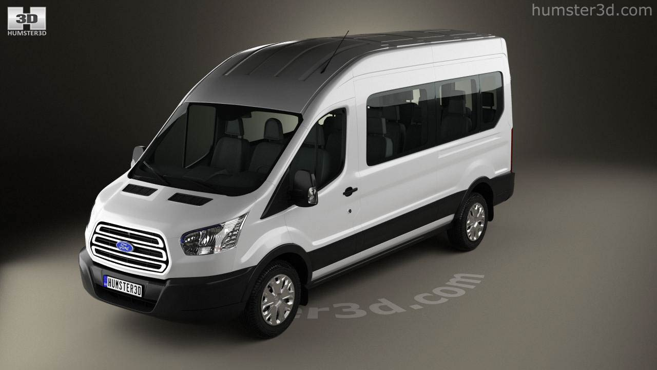 360 view of ford transit passenger van l2h3 2012 3d model hum3d