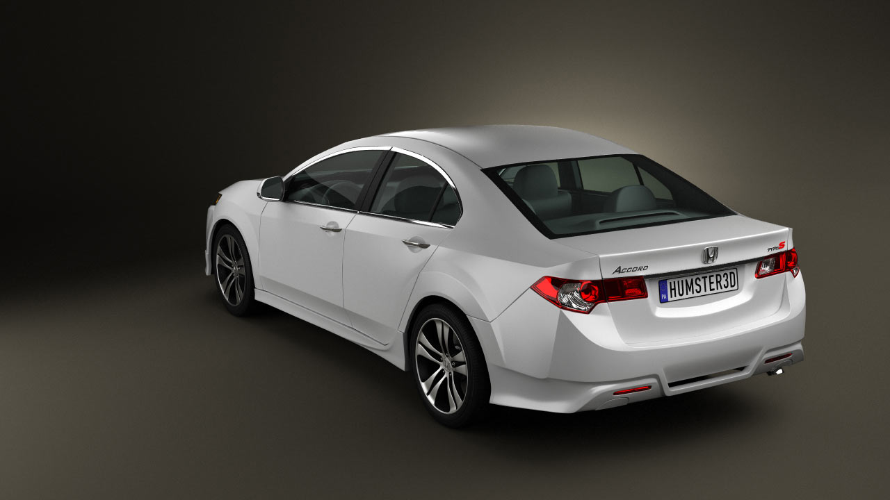 360 View Of Honda Accord Sedan Type S 2011 3D Model   Hum3D Store