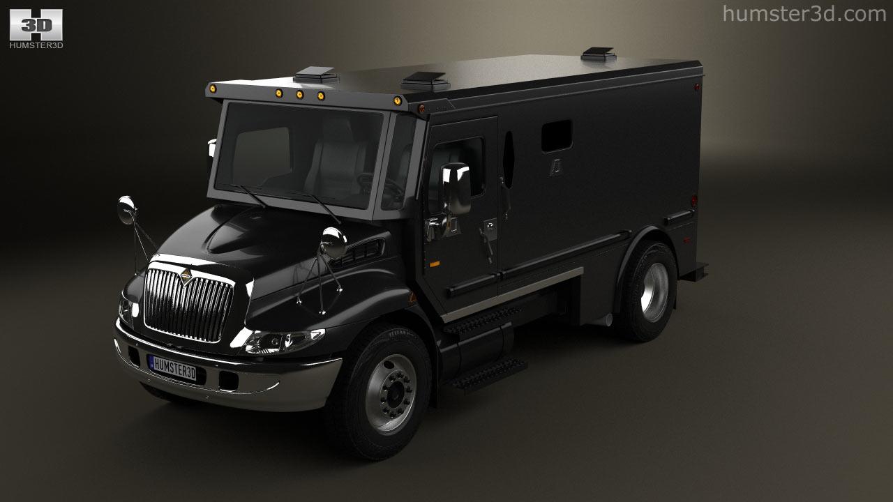 360 view of International Durastar Armored Cash Truck 2002 3D model ...