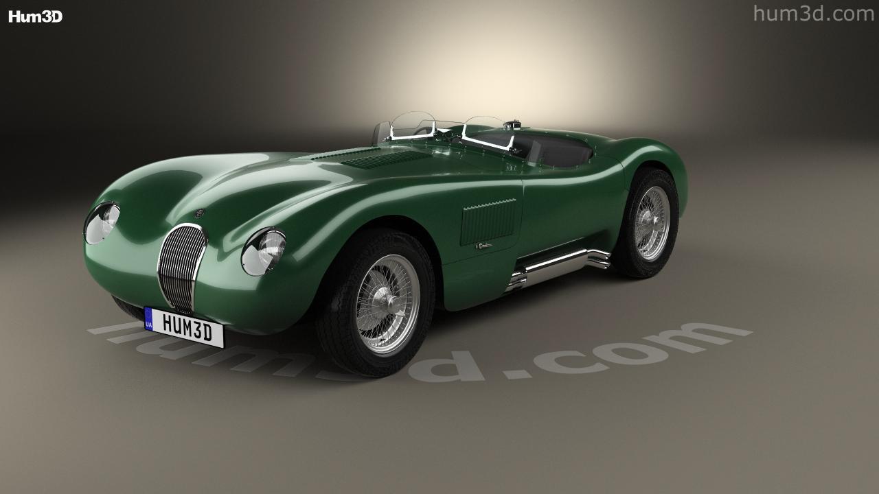 Jaguar C Type 1951 3d Model
