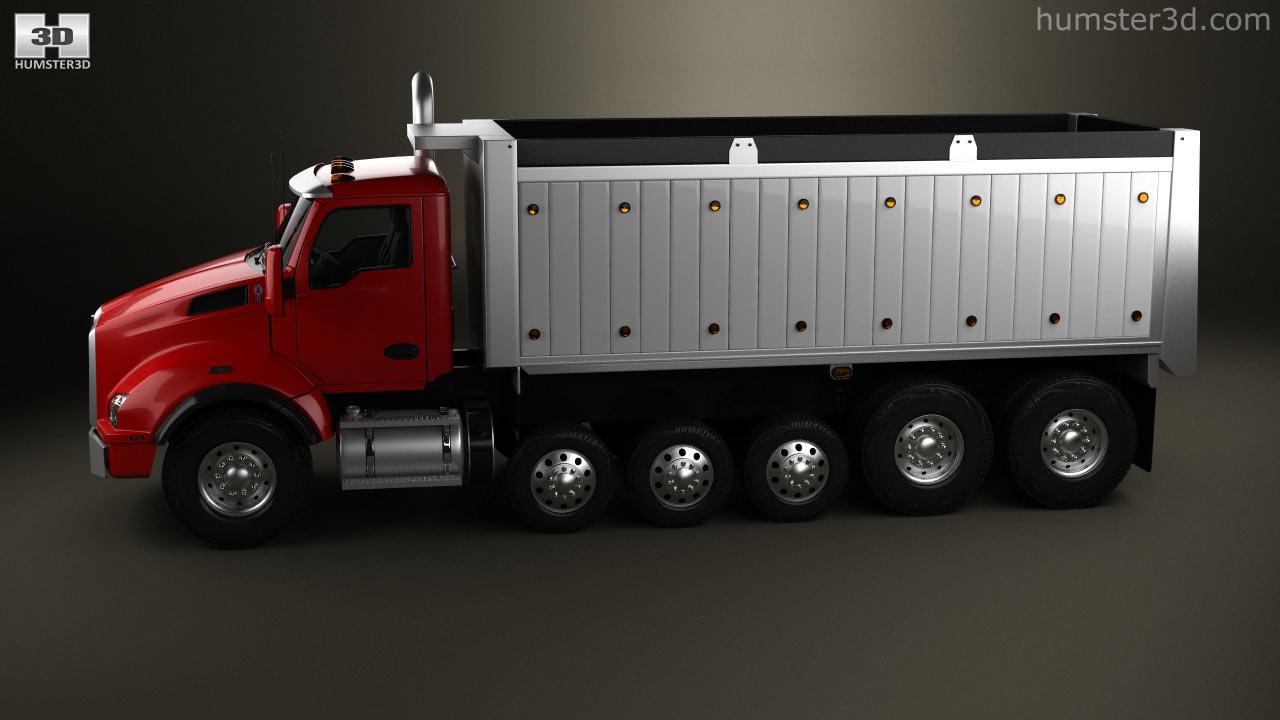Kenworth T880 Dump Truck 6 Axle 2013 3d Model