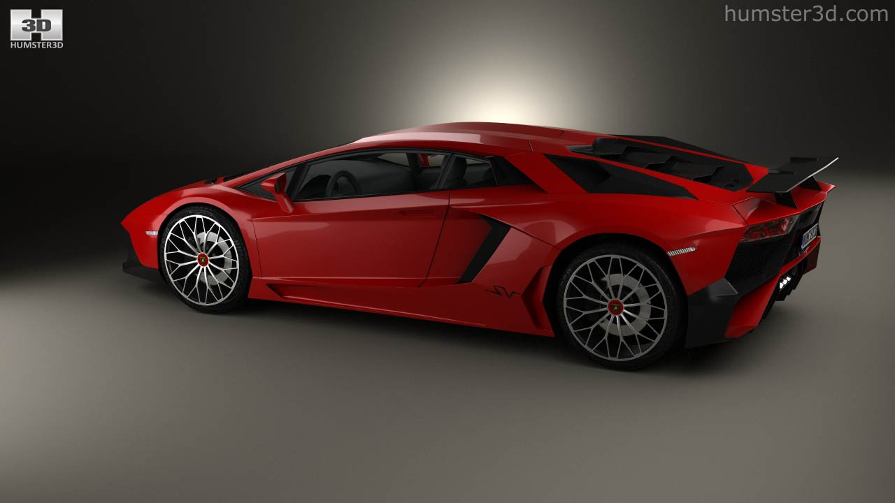 360 View Of Lamborghini Aventador Lp 750 4 Superveloce 2015 3d Model
