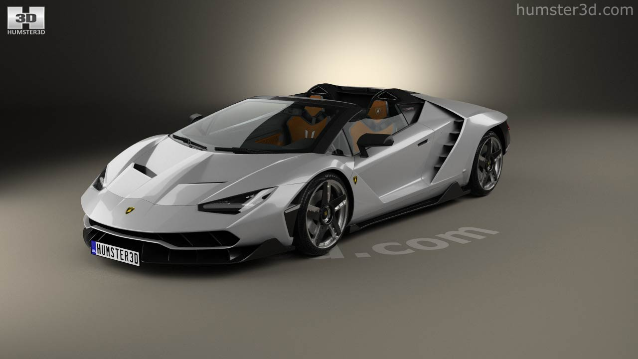 360 View Of Lamborghini Centenario Roadster 2017 3d Model Hum3d Store