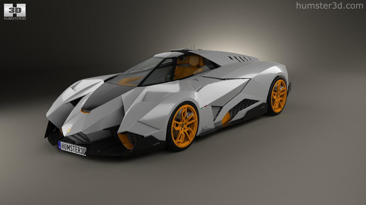 360 View Of Lamborghini Egoista 2013 3d Model Hum3d Store
