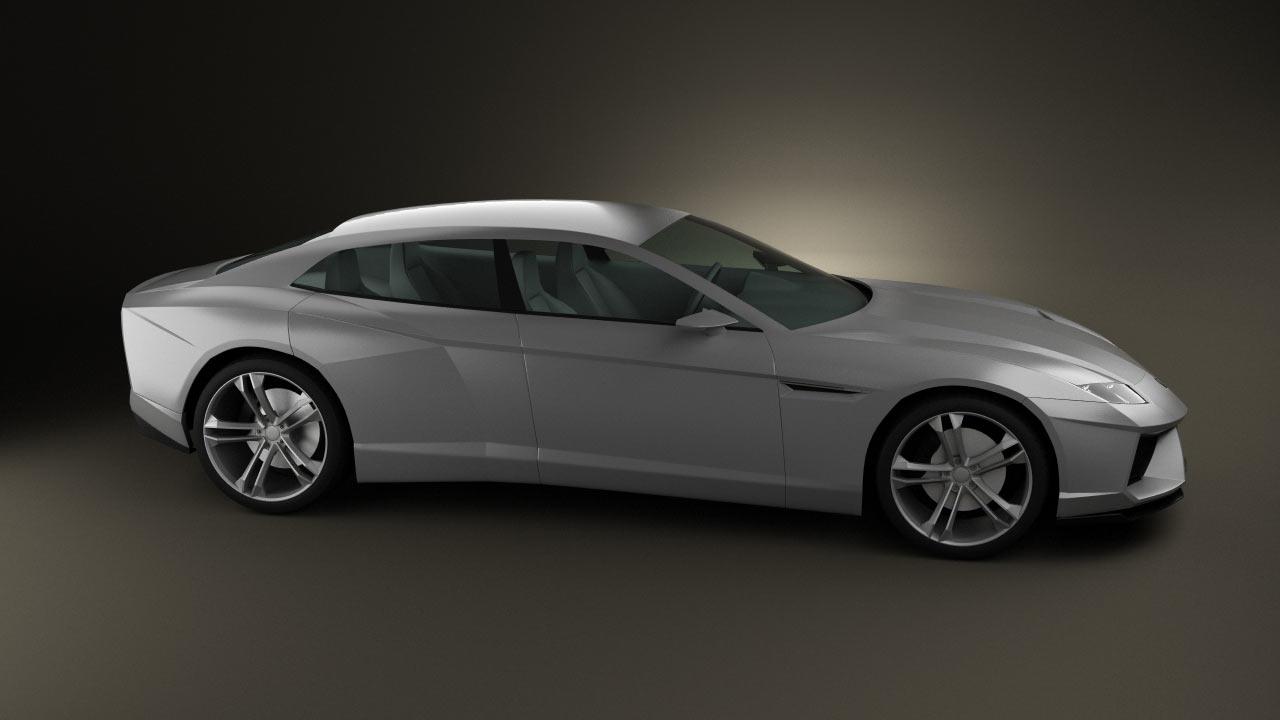 360 view of Lamborghini Estoque 3D model  Hum3D store