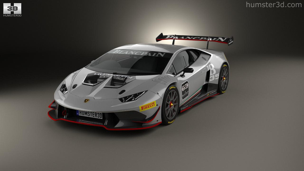 lamborghini huracan lp 620 2 super trofeo 2014 3d model