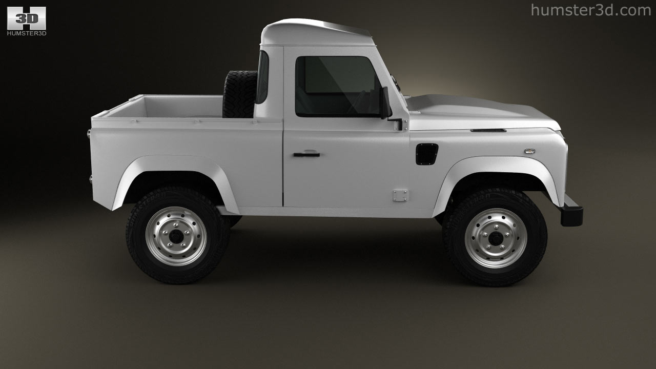 360 View Of Land Rover Defender 90 Pickup 2011 3d Model Hum3d Store Pick Up