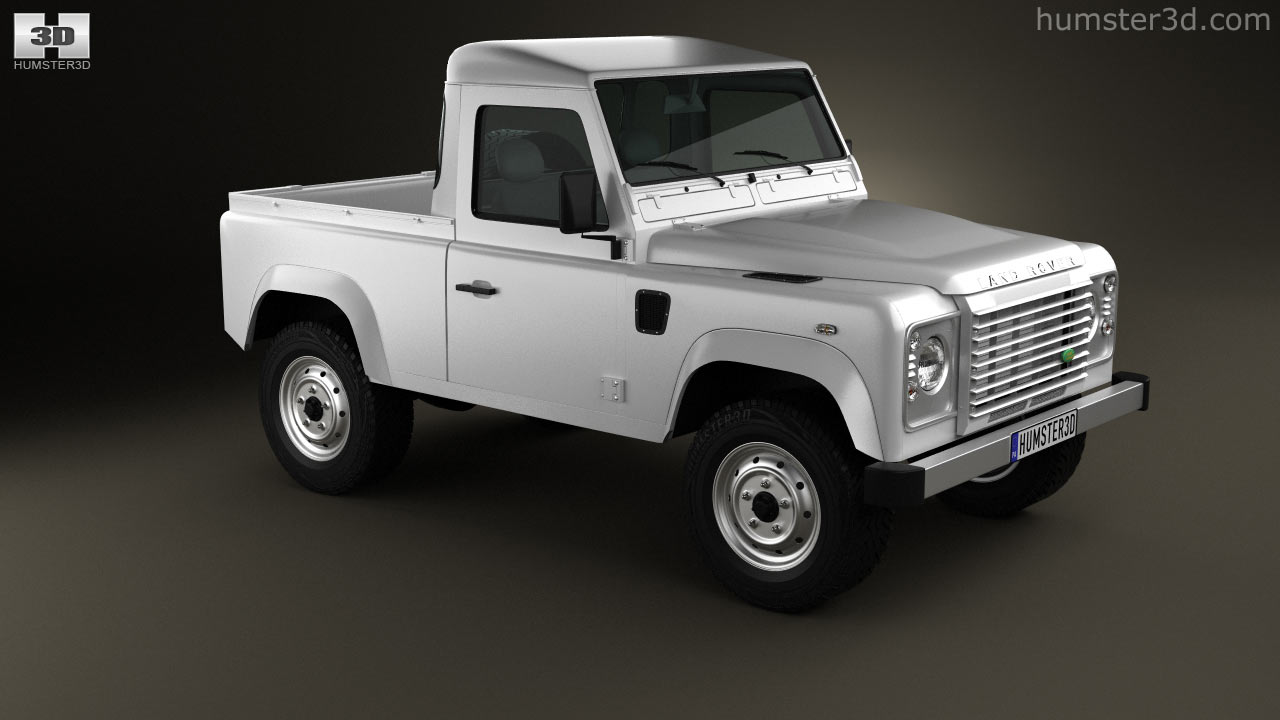 Land Rover Defender 90 Pick Up 360 View Of Pickup 2011 3d Model Hum3d Store
