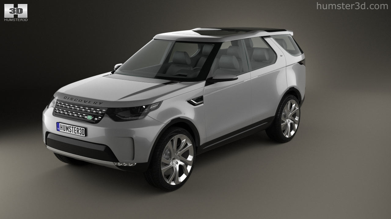 360 view of Land Rover Discovery Vision 2014 3D model - Hum3D store