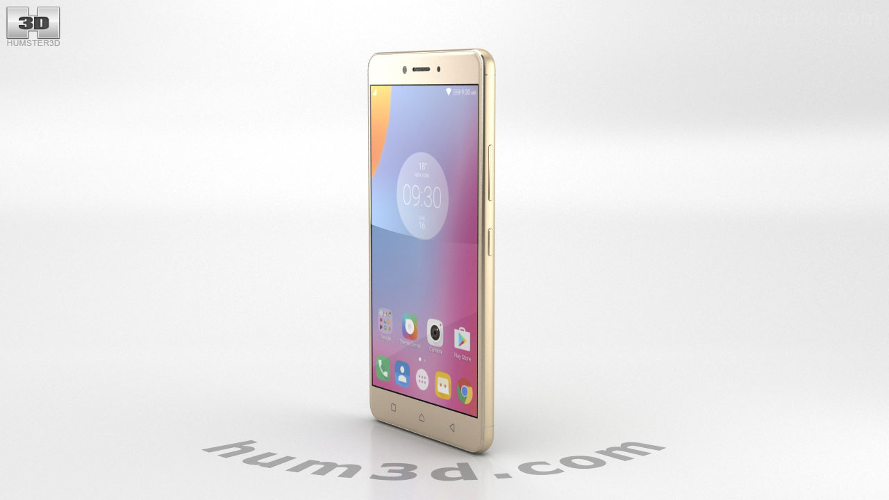 360 view of Lenovo K6 Note Gold 3D model - Hum3D store