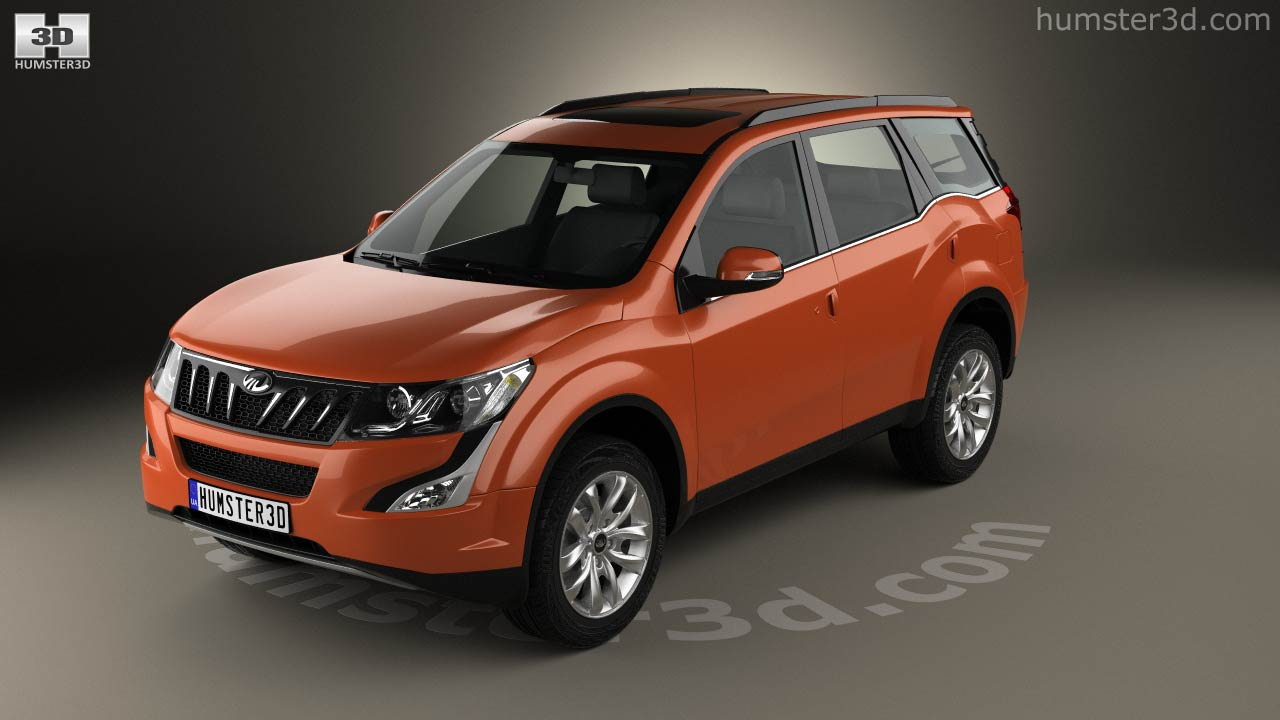 360 view of Mahindra XUV500 2015 3D model - Hum3D store
