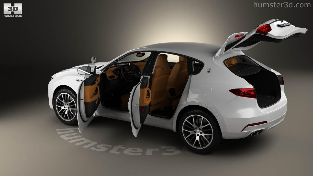 360 view of maserati levante with hq interior 2017 3d model - hum3d