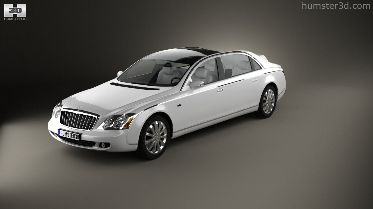 360 view of maybach 62s landaulet 2007 3d model - hum3d store